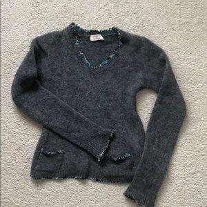 Kaos Mohair V-neck Sweater